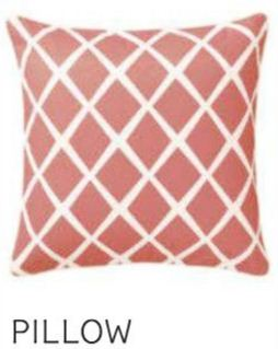 Coral Diamond Pillow Cover