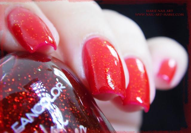kleancolor chunky holo scarlet3