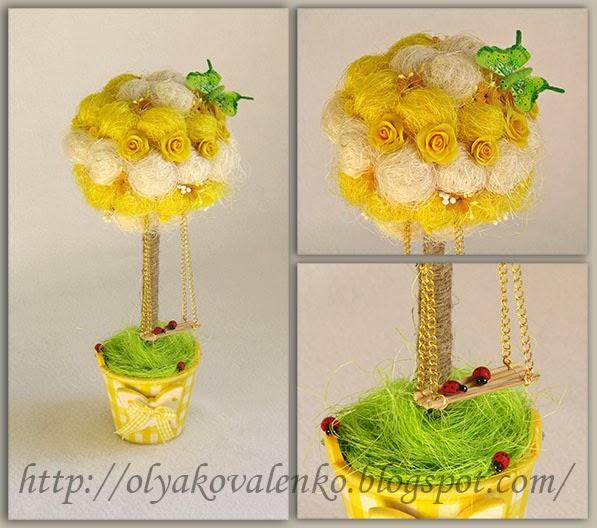 Топиарий в жёлтом цвете