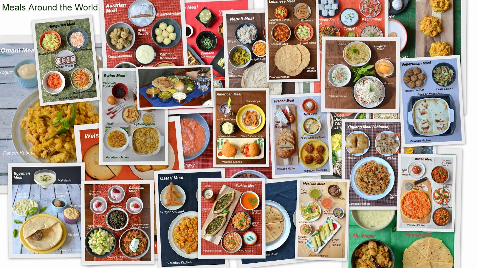 Varada 39 s kitchen meals around the world for Around the world cuisine