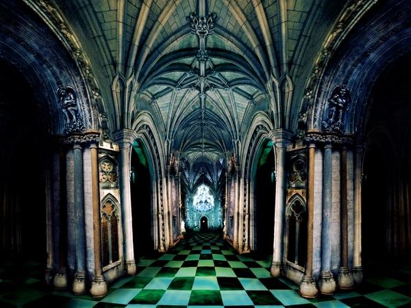 Interior del Castillo de los Reyes