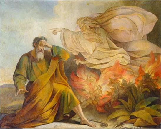 Moses and the Burning Bush - Isaac's Cathedral - St. Peterburg