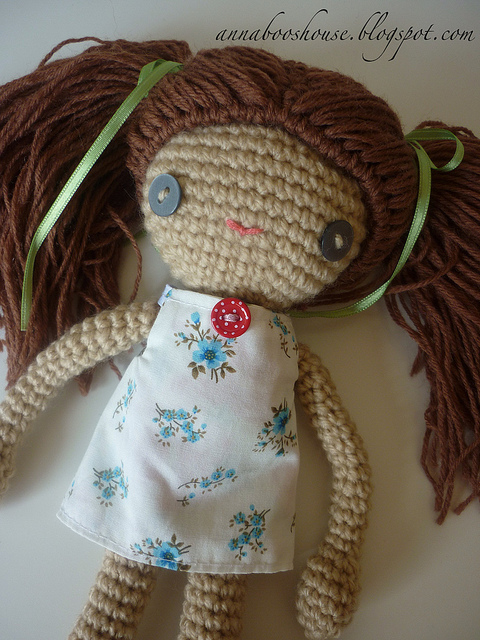 Crochet Hair Doll : Crochet Doll Pattern