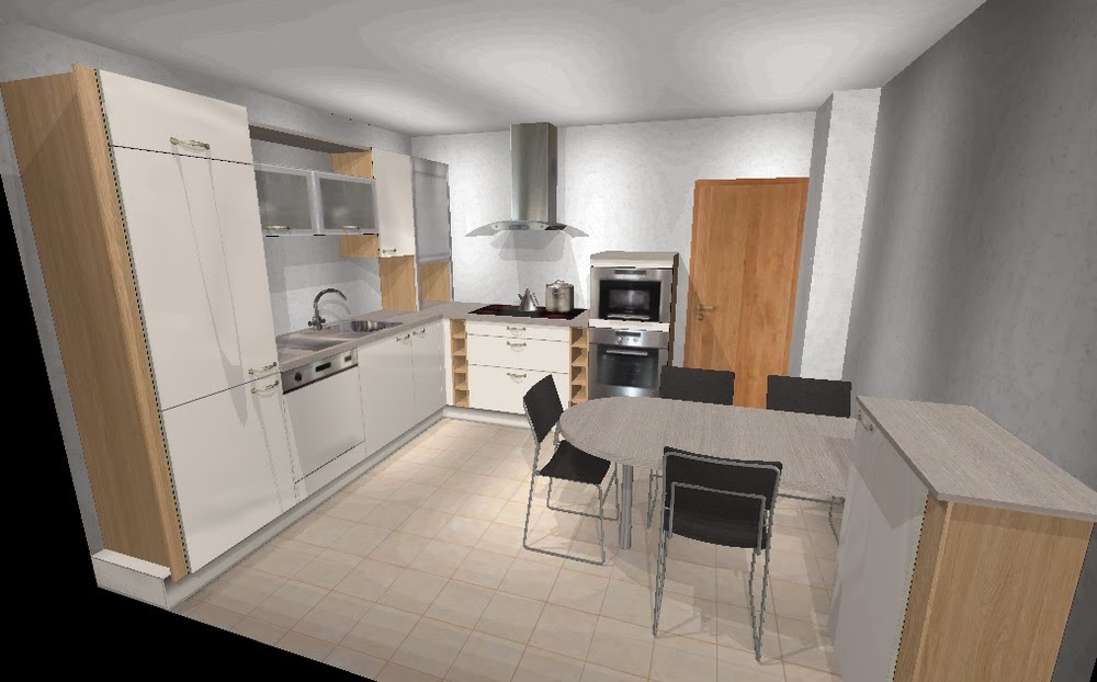 Plan de cuisine en 3 D logiciel