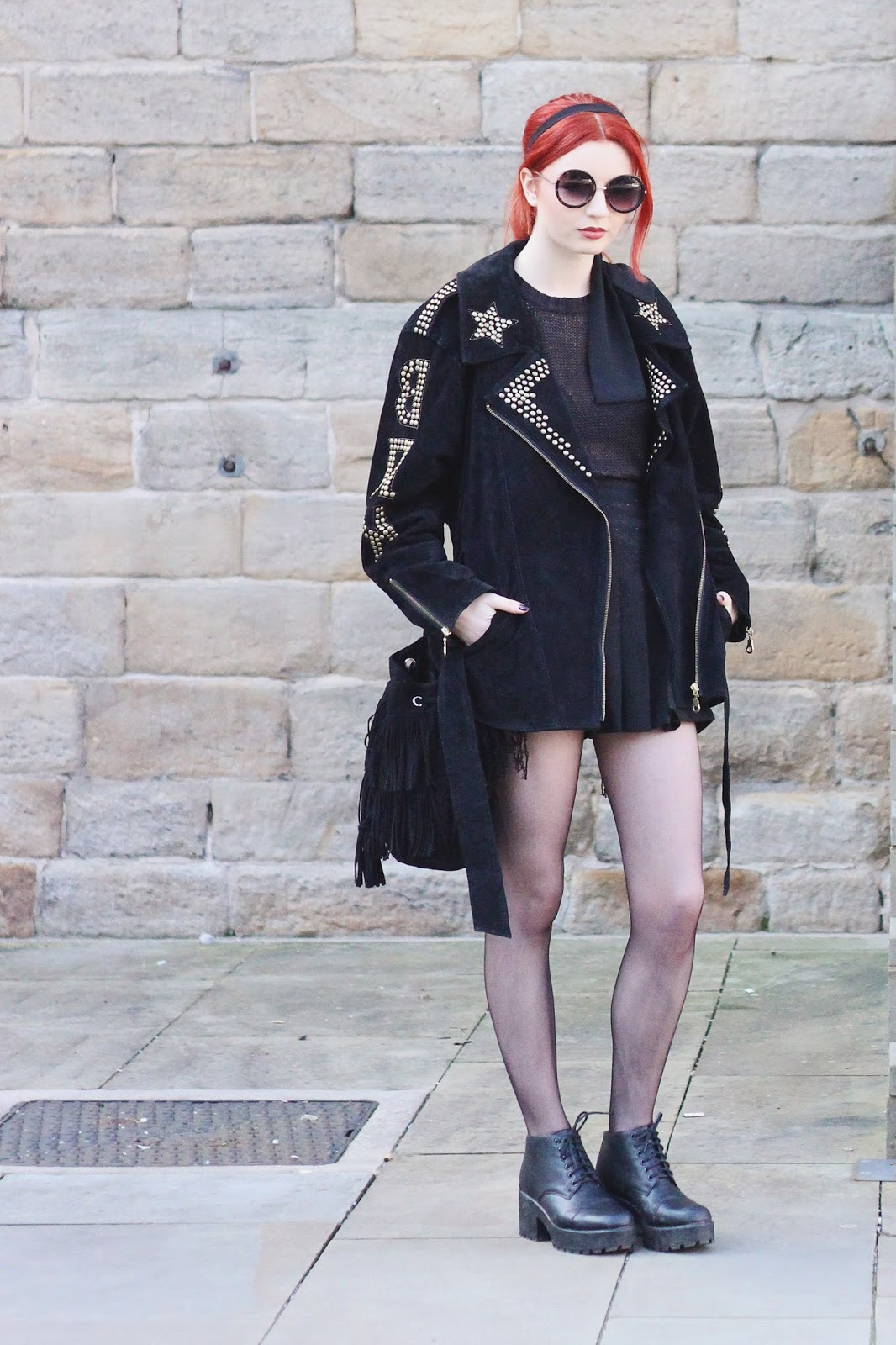 bac876aeed6 Summer Goth    Vintage Suede Jacket - Hannah Louise Fashion