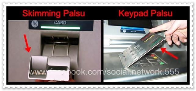 Berhati-hati apabila memasukkan Card dan No. PIN di Mesin ATM (Bank)