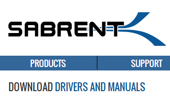 Download Sabrent NT-USB20 drivers Windows and installing