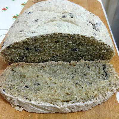 Pão da Toscana com Azeitonas Pretas