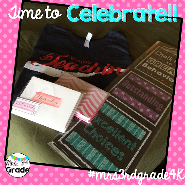#mrs3rdgrade4k giveaway on IG!  Winner announced 7/20/15