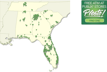 Publix Locations Map