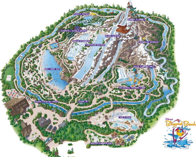 Map Blizzard Beach Orlando
