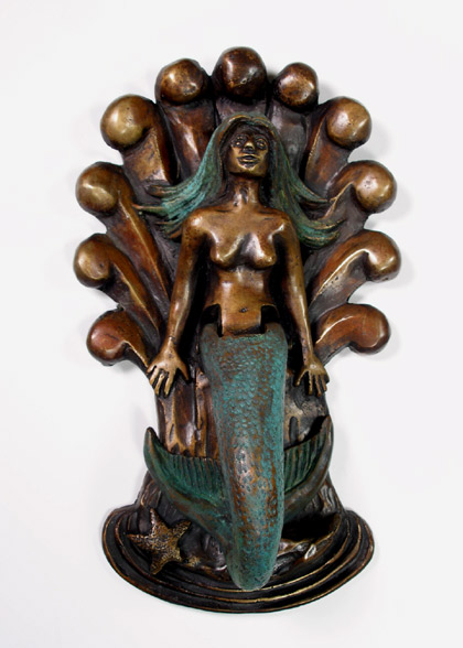 The plural of hyena unique knockers and unusual knobs - Mermaid door knocker ...