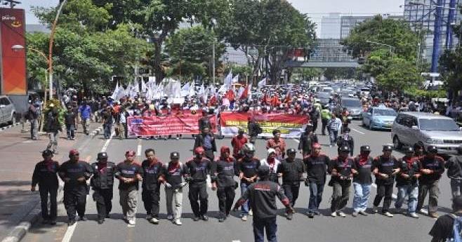 Persiapan Demo Buruh  Lupy Hakim Loker