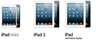 Comparação  iPad Mini vs iPad 2 vs iPad 4 ª geração,tecnologia