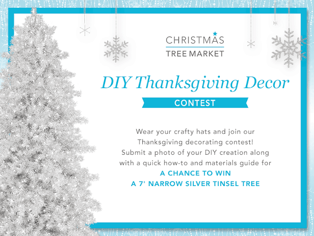 Christmas Tree Market DIY Thanksgiving Decor Contest