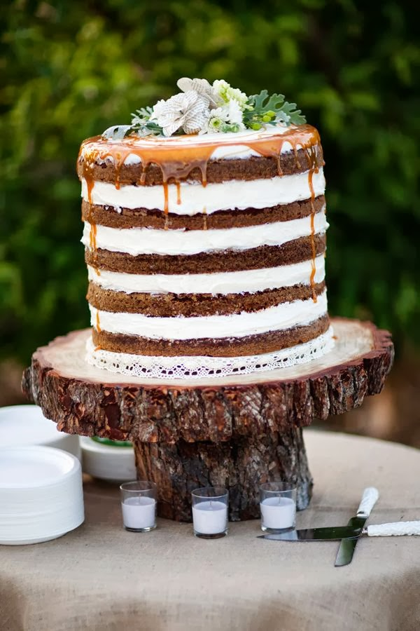 tin roof farmhouse wedding trends for 2014 naked cakes. Black Bedroom Furniture Sets. Home Design Ideas