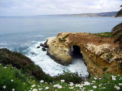 Sea caves in La Jolla Cove