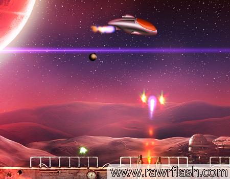 Jogos de tiro, naves, espacial: Megagun.