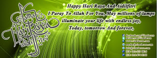 Happy Hari Raya And Aidilfitri by Vina Canopy & Decor