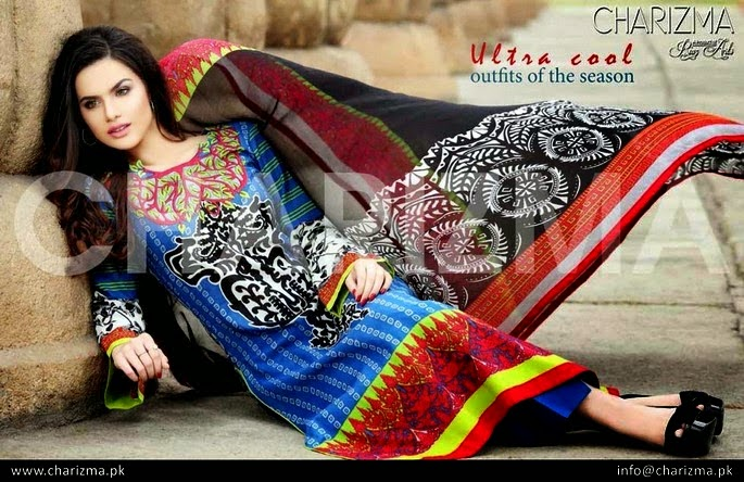 Colorful Lawn Salwar Kameez Summer Dresses