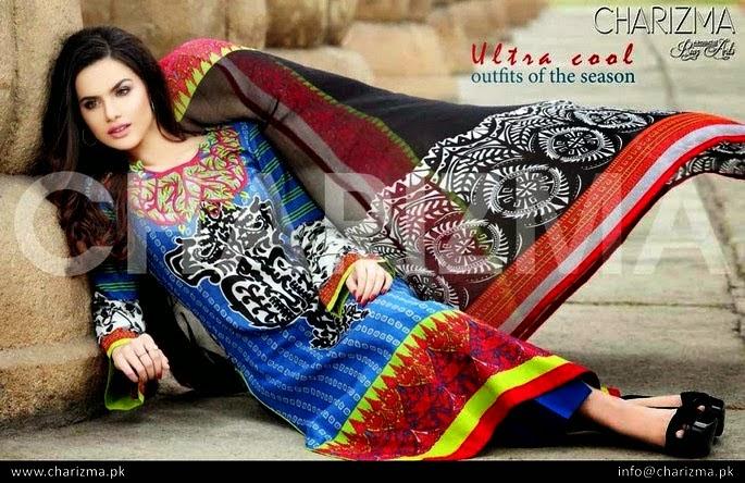 Colorful Lawn Salwar Kameez Summer Dresses