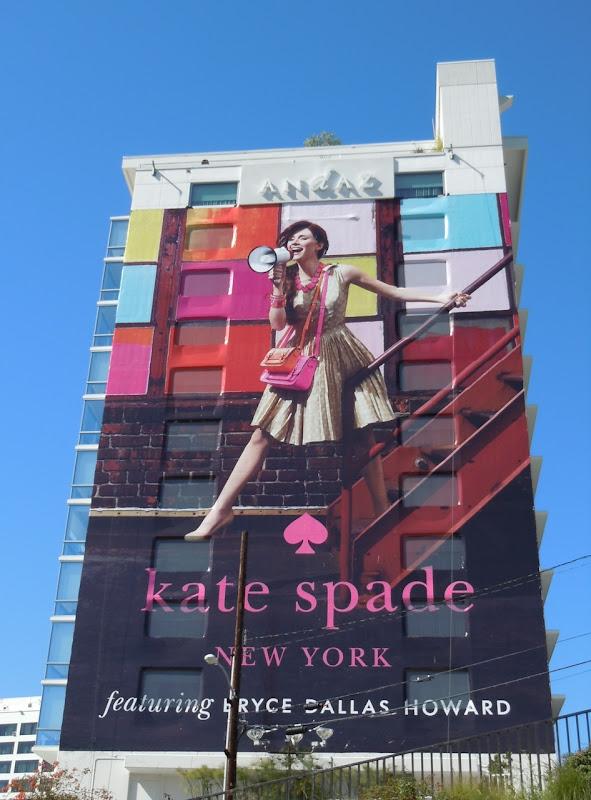 Kate Spade Bryce Dallas Howard billboard