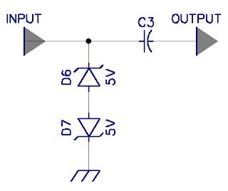 Dioda Zener Sebagai Pembatas Level Sinyal Input
