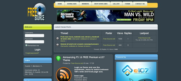 Fs Is The Premium Quality Free E Theme Created By Free Source ...