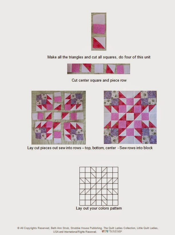 sample pattern for B. Annie Quilt Block Pattern Book
