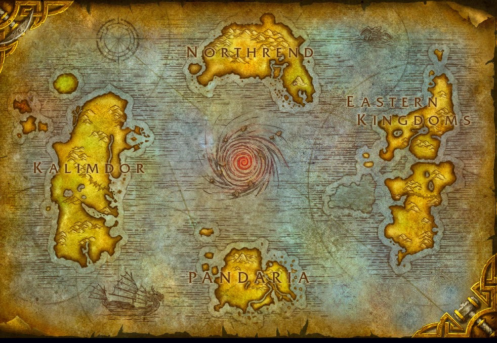 Map The World of Azeroth Map SAO