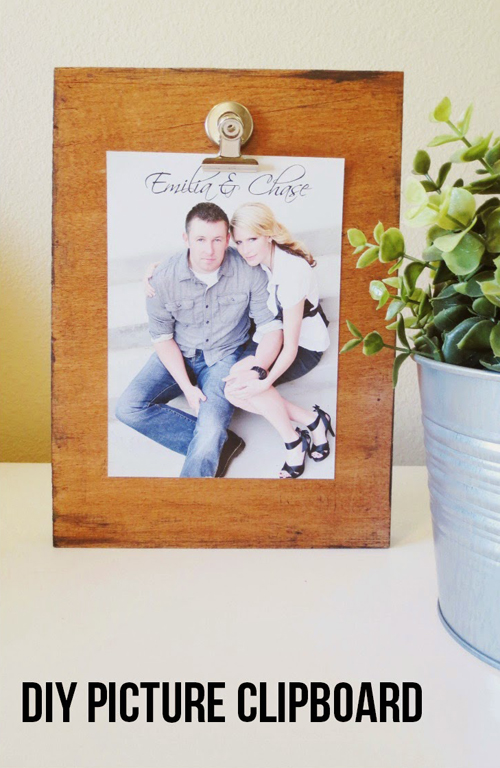 Reclaimed Wood Photo Clipboard