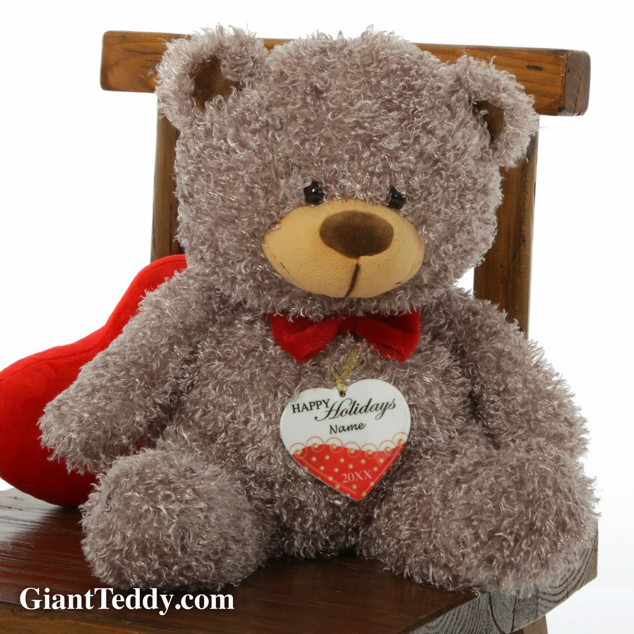 Personalized name ornaments - Giant Teddy Buster Shags Personalized Ornament Gift Set
