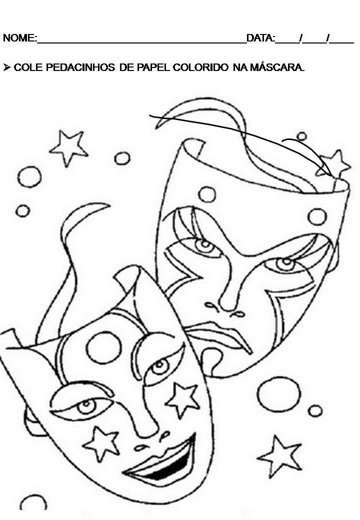 Conhecido EDUCAÇÃO INFANTIL: Mascaras e atividades Carnaval VW79