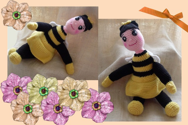 crochet amigurumi bee doll pattern
