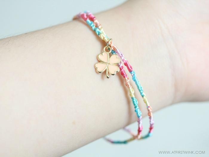 Melz charm bracelet worn