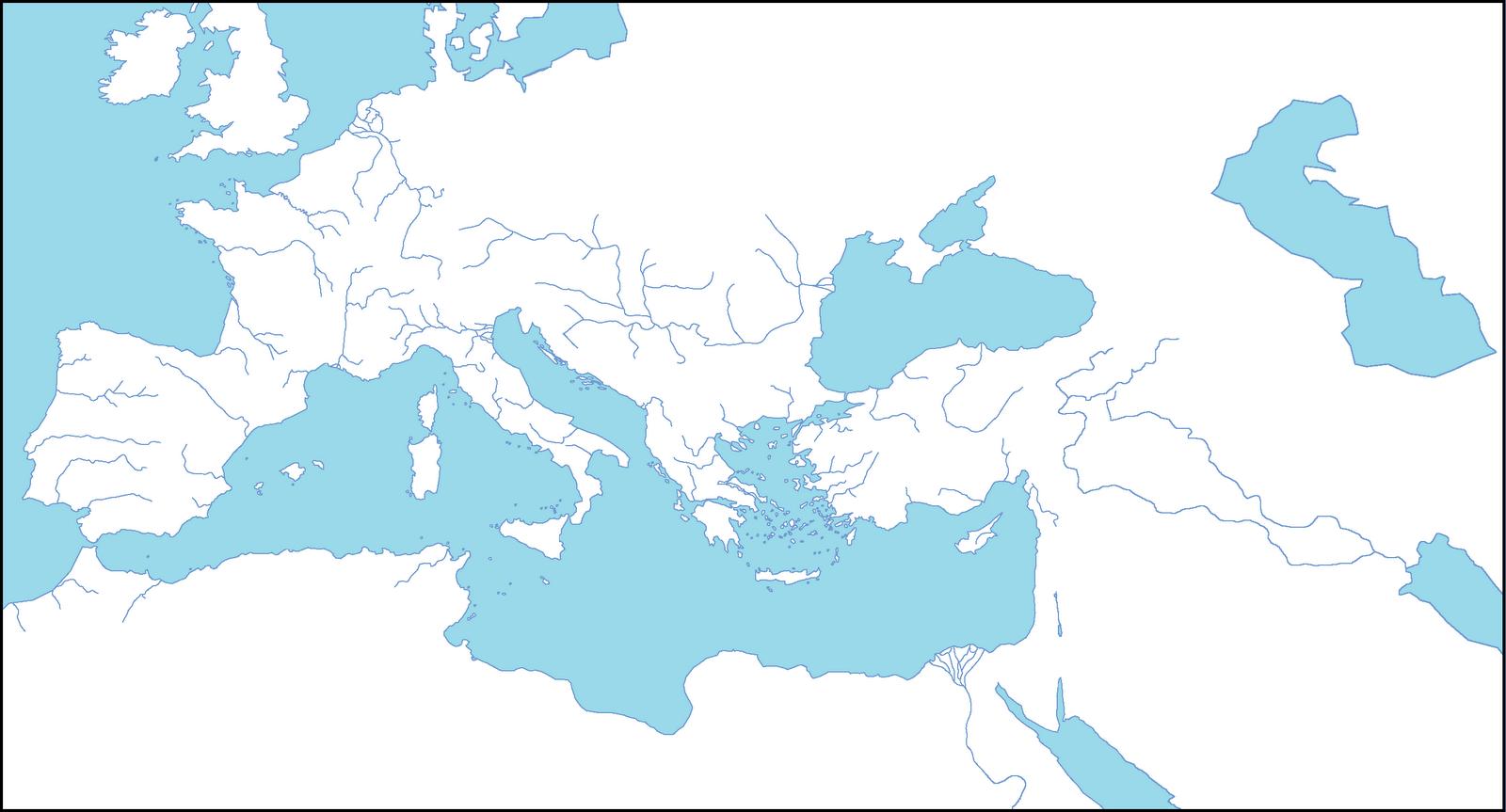 Puedes imprimir y dibujar tu mapa del imperio de roma en este mapa