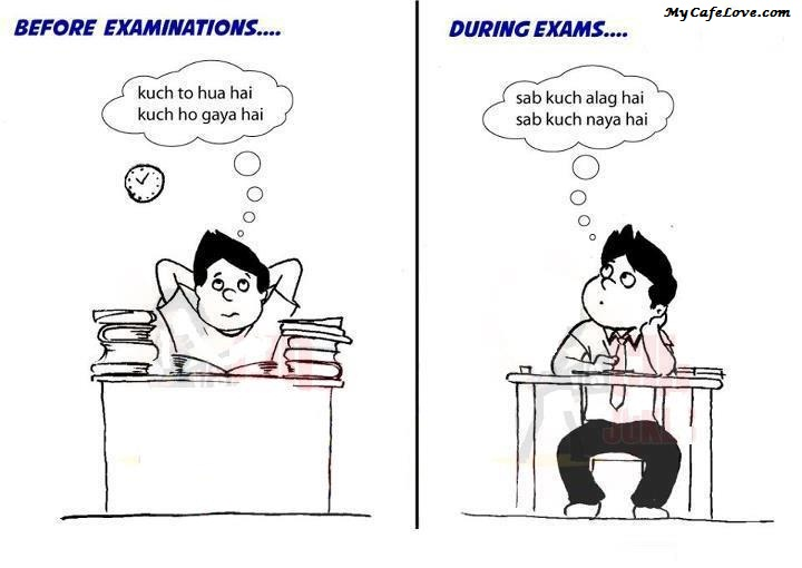 Me before and after exams ~ funny image