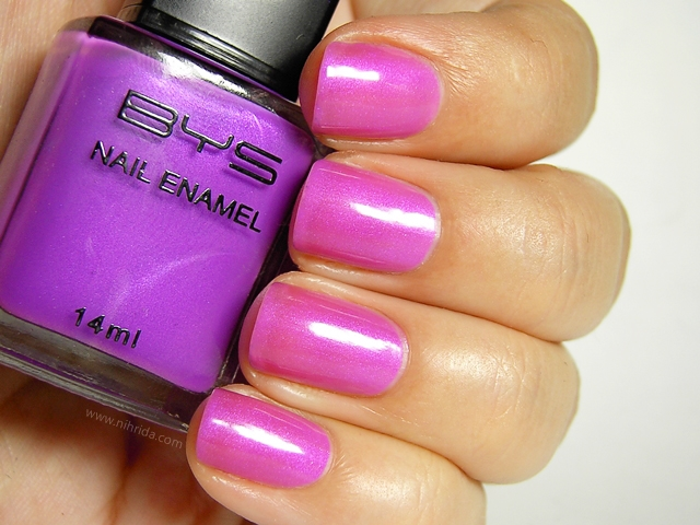 BYS Colour Change Nail Enamel in Bright Purple
