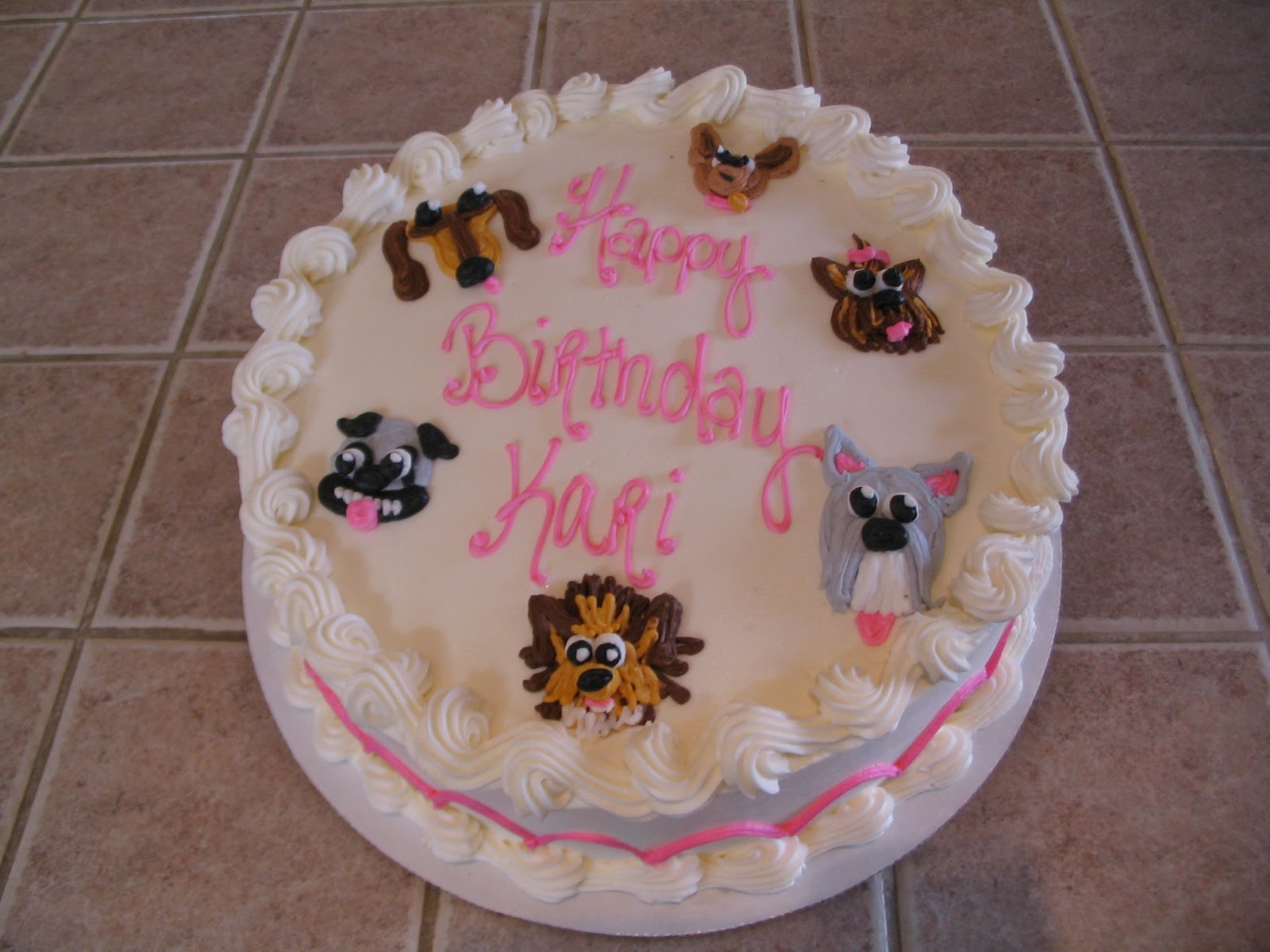 Birthday Cake Images Dogs : Details by Kari: Puppy Dog Birthday Cake