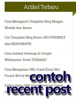 http://kodeinternet.blogspot.com/2015/12/membuat-recent-post-simple-dan-ringan.html