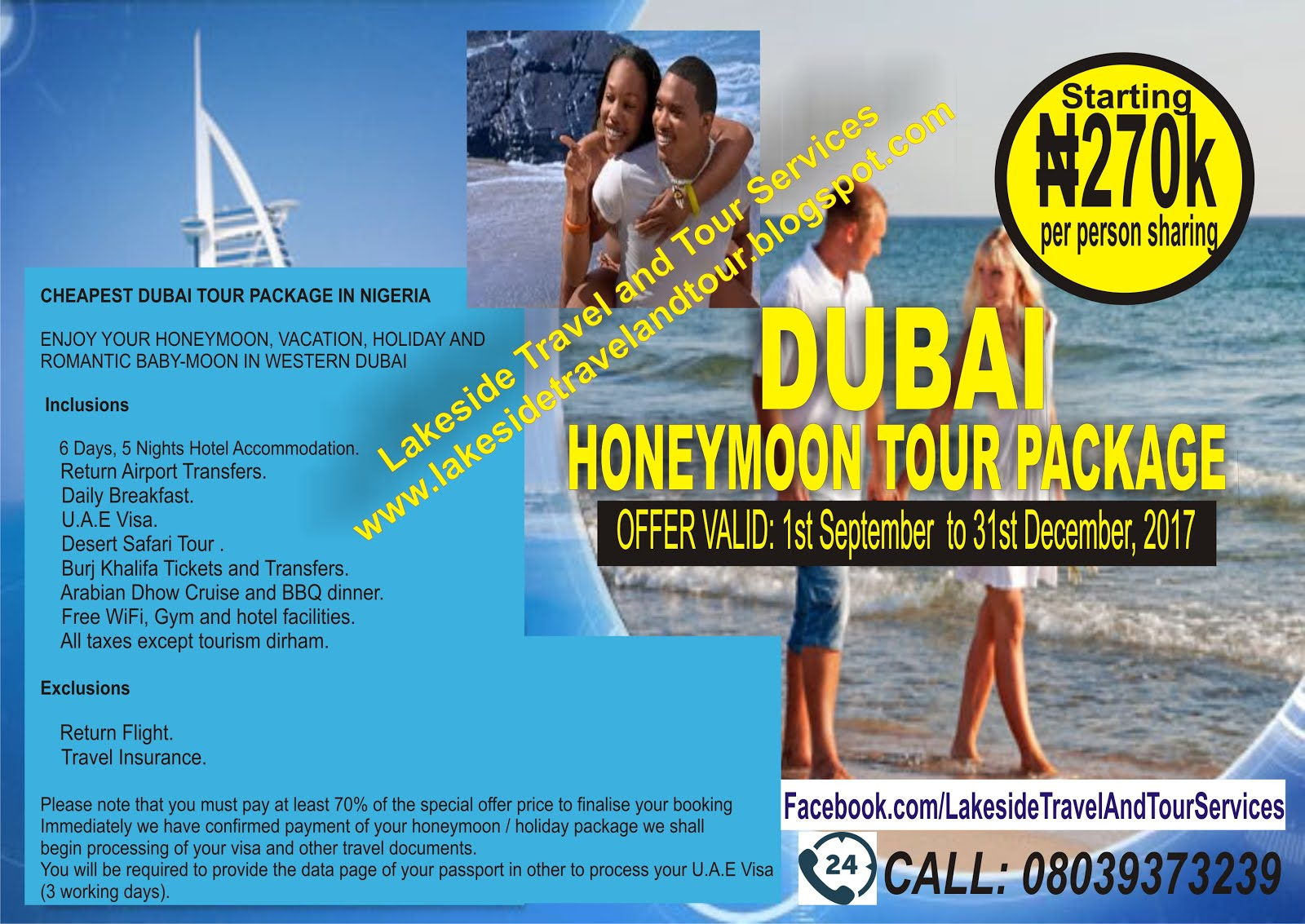 Cheapest Dubai Tour Package In Nigeria