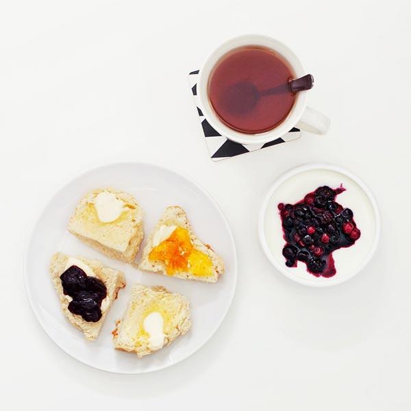 desayuno te y mermeladas