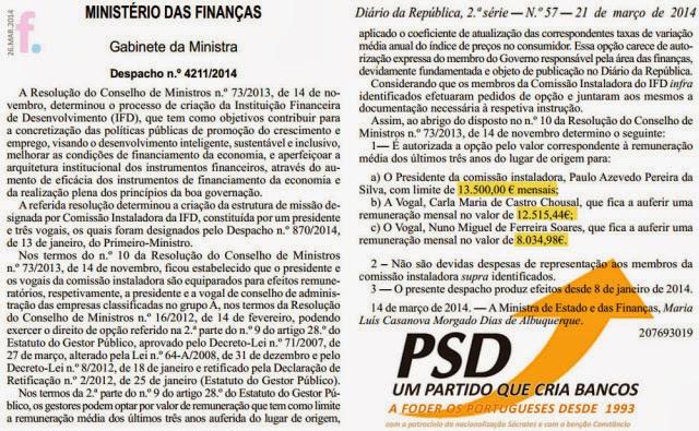 PSD, Banco de Fomento