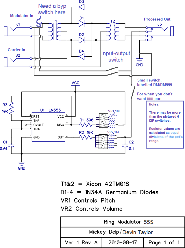 Passive Ring Modulator Circuit