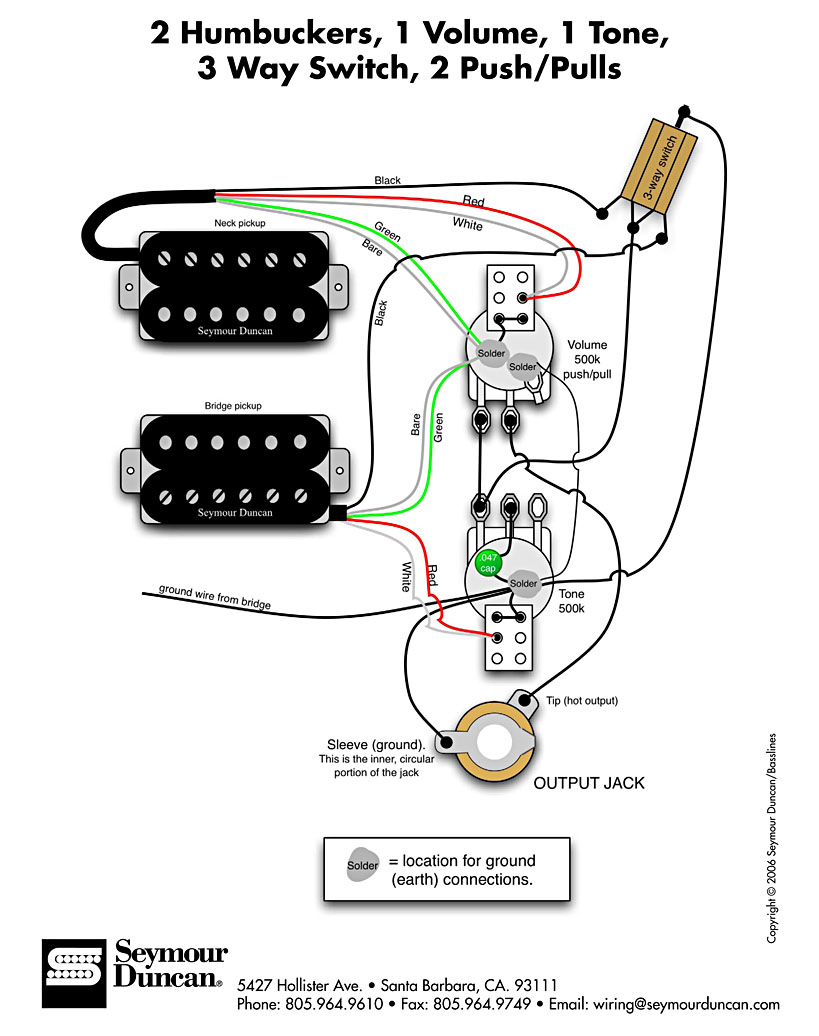 The Anatomy Of Single Coil Pickups moreover Showthread in addition Changing The Pickups In An Ibanez S420 Guitar also Les Paul Wiring Diagram Moreover Humbucker 4 Wire also Gibson Es335. on two humbucker wiring diagram