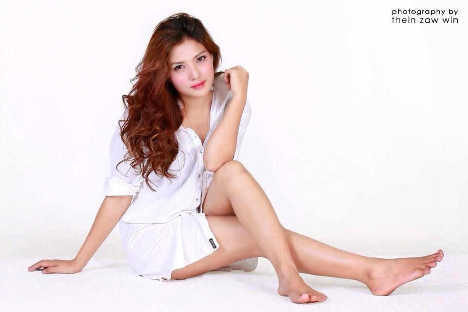 Myanmar model beach photos very grateful