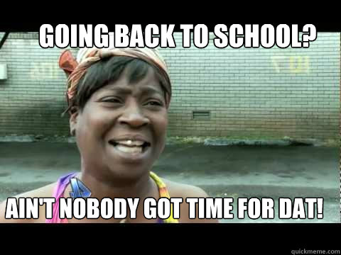 About returning to school?