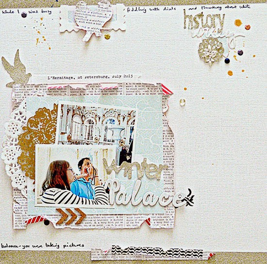 Sian Fair scrapbooking embellishment clusters for Get It Scrapped