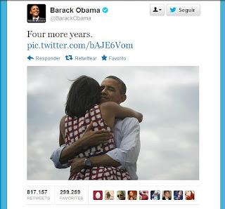 El tuit más retuiteado de la historia, Obama 2012