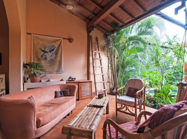 Desain Ruang Tamu Alami Outdoor